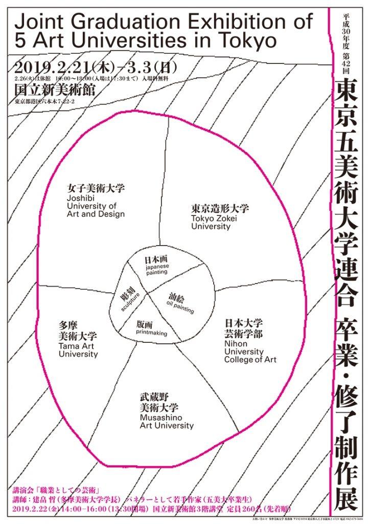 平成30年度 第42回 東京五美術大学連合 卒業・修了制作展